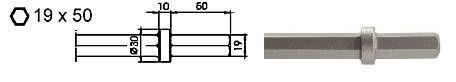 beitel 19x50 breed 60mm