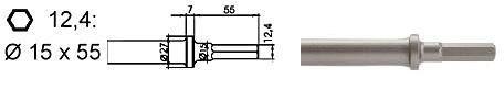 chisel 124 flat 20mm