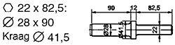 chisel 22x825 flat 25mm