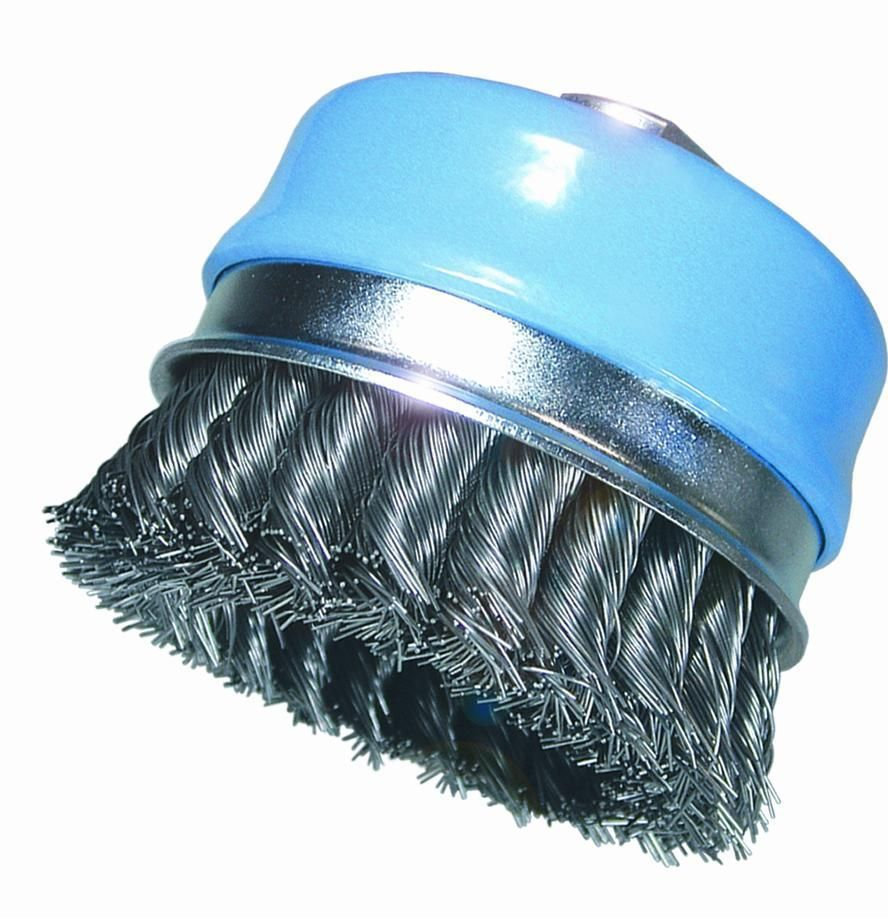 cup brush pro knotted wire 050 100mm