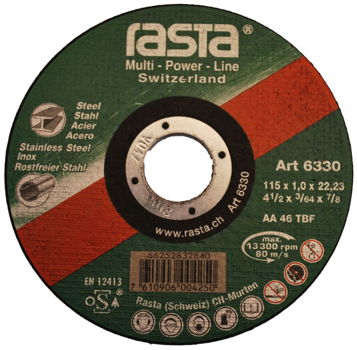 cuttingoff disc 115x1x22