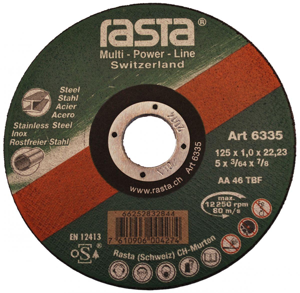 cuttingoff disc 125x1x22