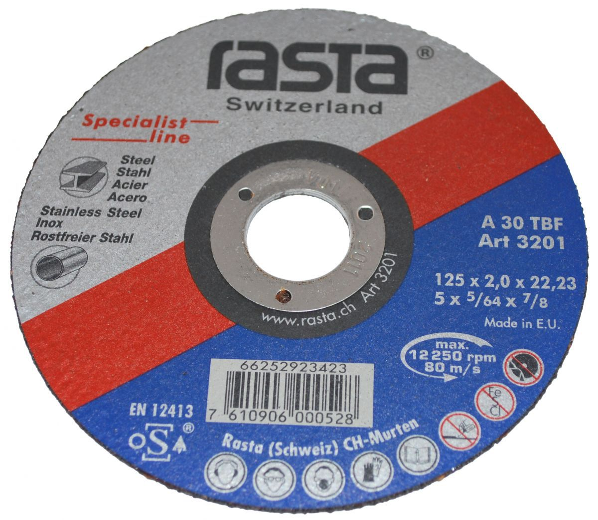 cuttingoff disc 125x2x22