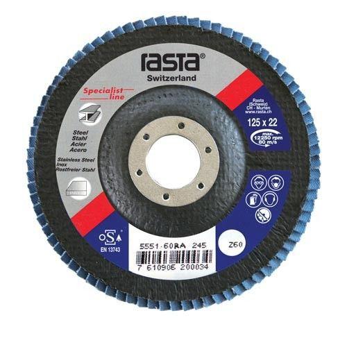 flap disc con 125x22 grit 80
