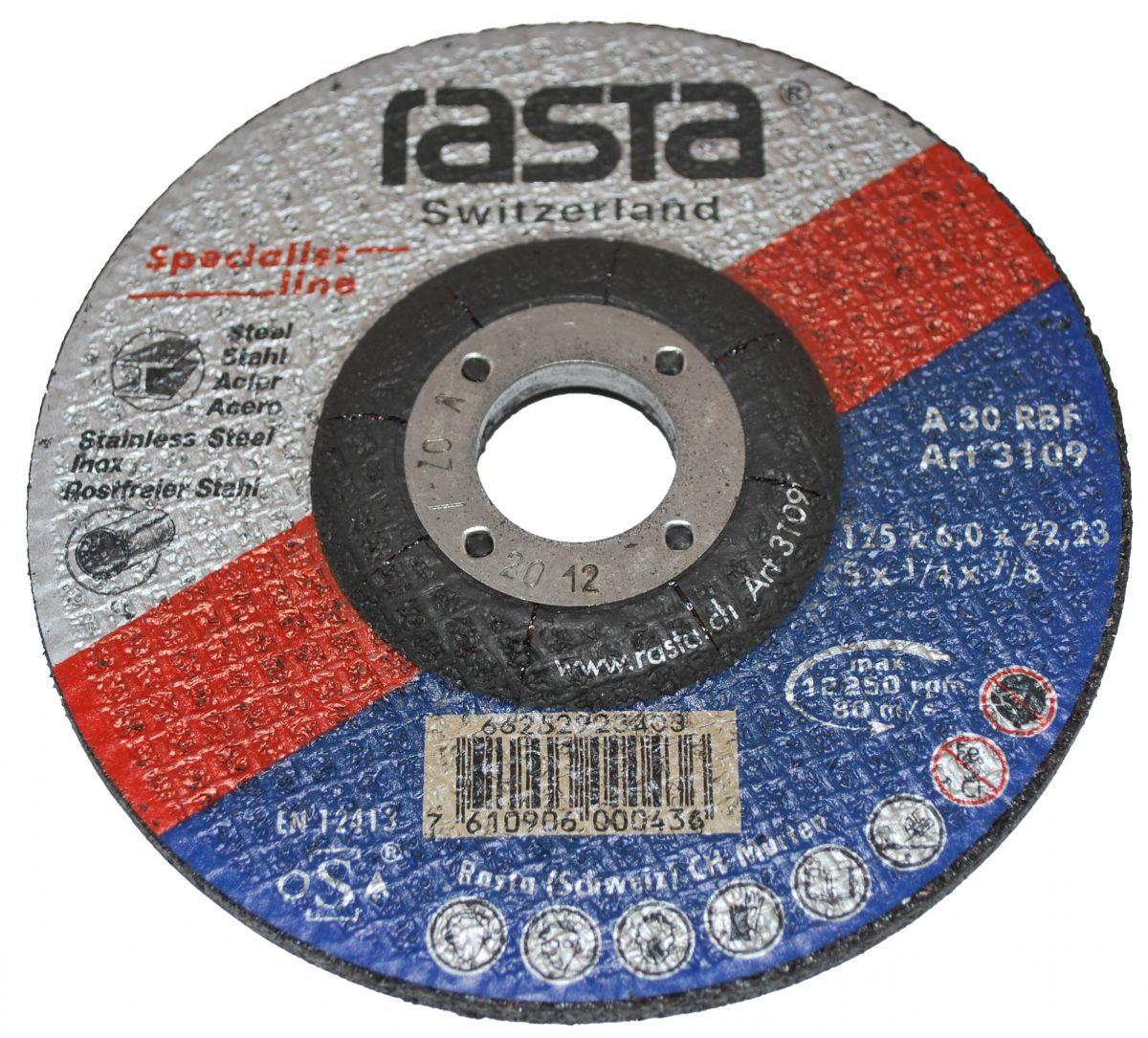grinding wheel 125x6x22