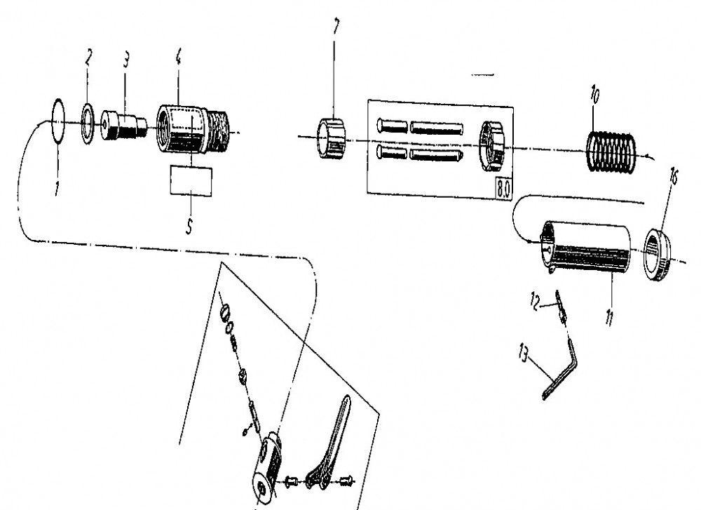 von arx 12b naaldenhouder 3mm standaard